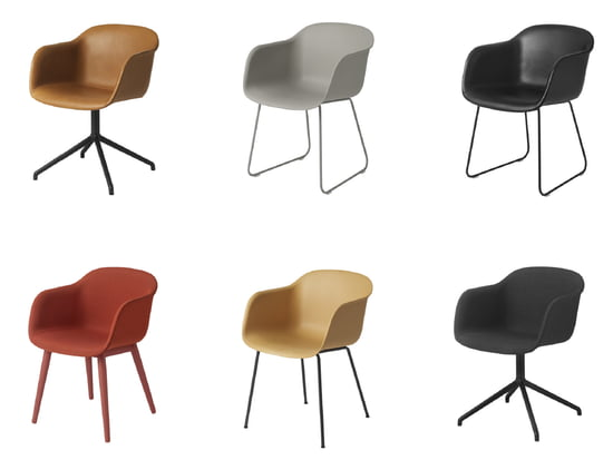 Muuto Fiber Chair in different editions