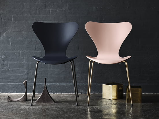 Series 7 chair by Arne Jacobsen in the factory