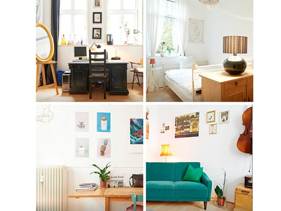 Positions of Germany's trendiest shared flat