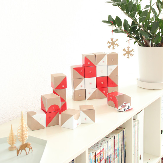 Snug.Studio - snug.boxes advent calendar, on shelf