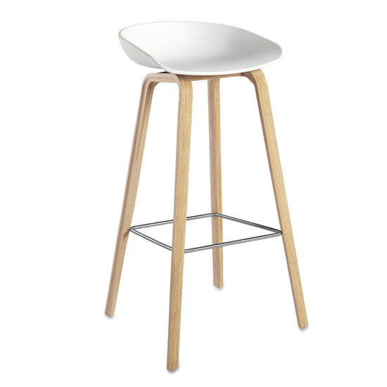 Hay - About A Stool AAS 32, frame oak (soaped) / white H86