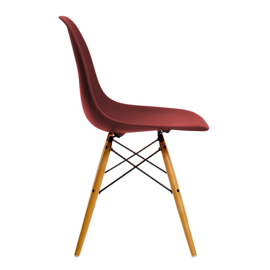 Vitra - Eames Plastic Side Chair DSW, yellowish maple / oxide red