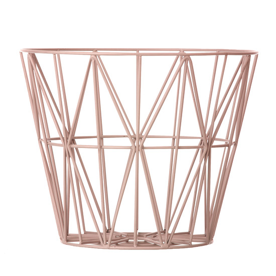 Wire basket medium by ferm Living in rose