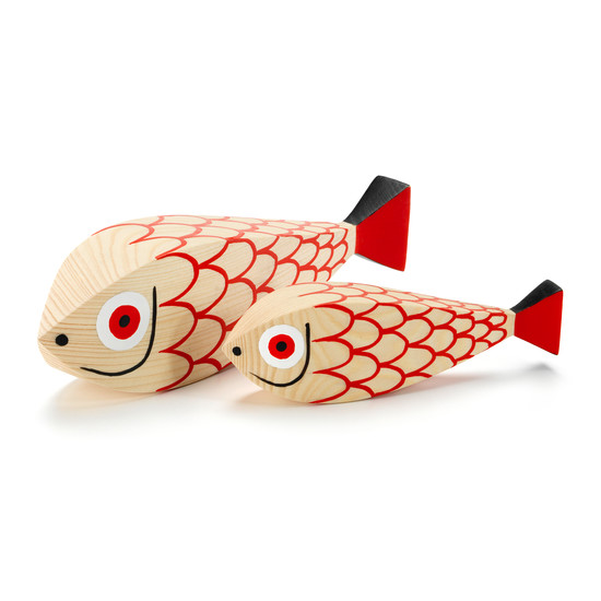 Wooden Dolls mother fish & child by Vitra