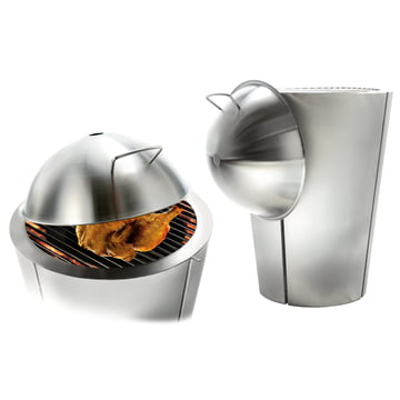 Charcoal Grill and Braising Lid by Eva Solo