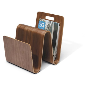 Offi - Newspaper rack Mag Stand in walnut