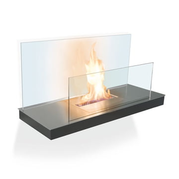 Wallflame II - Stainless steel/ glass, transparent