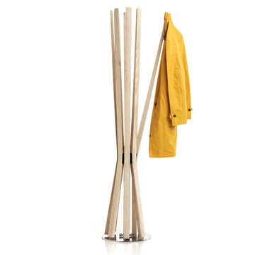 Bloom eight-arm coat stand, arms made of solid ash wood