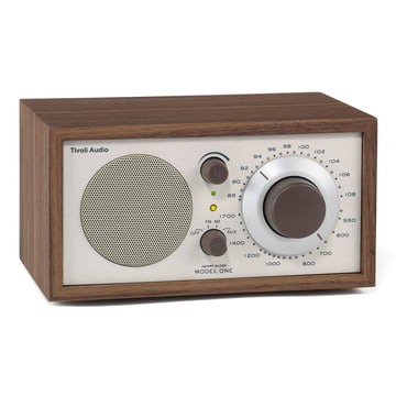 Model One Mono Radio - walnut / beige