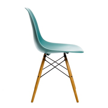 Vitra - Eames Plastic Side Chair DSW, yellowish maple / ocean