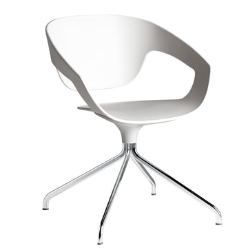 Casamania - Vad Chair in white with swivel frame