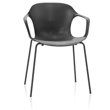 Fritz Hansen - Nap Chair, armrests, pepper grey