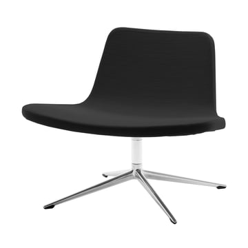 Hay - Ray Lounge Chair, bogie, fabric, black