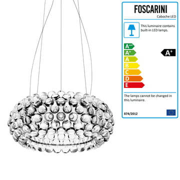 Foscarini - Caboche Pendant Lamp transparent, media