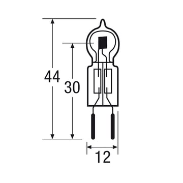 Osram Halogen lamp Pin Socket Eco - 12V, GY6.35