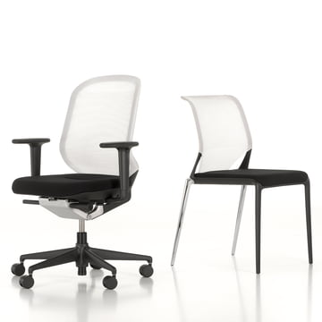 Vitra - MedaSlim and MedaPal, black - white