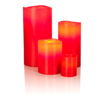 LED Real Wax Candle, red