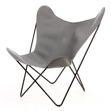 M+ - Butterfly (B.K.F.) Chair - black steel / acrylic, grey