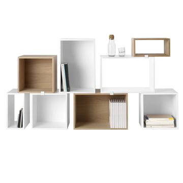 Muuto - Stacked shelving system - white