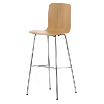 Vitra - Hal Ply Stool High Light Oak, plastic glides,
