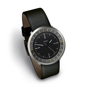 Botta Design - Mondo Watch, black / leather strap