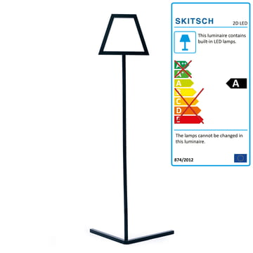 Skitsch - 2D LED floor lamp, black