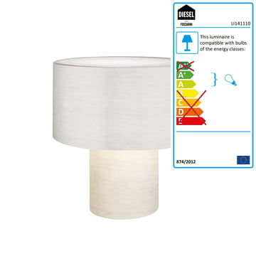 Diesel Living - Pipe Table Lamp, white