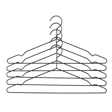 Hay - Hang hangers set of 5, black