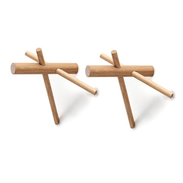 Normann Copenhagen - Sticks Hooks, nature, set of 2