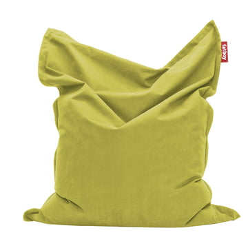 Original stonewashed beanbag by Fatboy in lime green