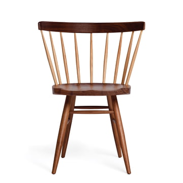 Knoll - Straight Chair, walnut wood