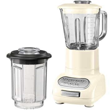Artisan blender with glass container, almond cream