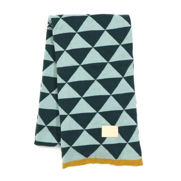 Remix Knitted Blanket by ferm Living in Blue
