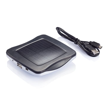 XD Design - Window Solar Charger, silber - bottom, cable
