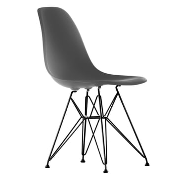 Vitra - Eames Plastic Side Chair DSR, black / basalt