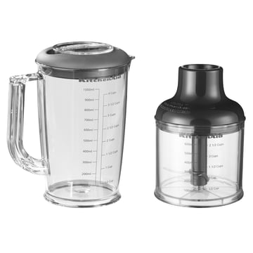 KitchenAid - Hand blender with accessories - chopper, container