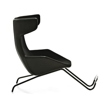 Moroso - take a line for a walk - leather, black