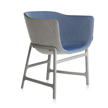 Fritz Hansen - Minuscule Chair, light grey 123, cobalt blue 762
