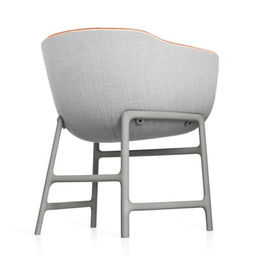 Fritz Hansen - Minuscule Chair, grey 123, orange 443 - backside