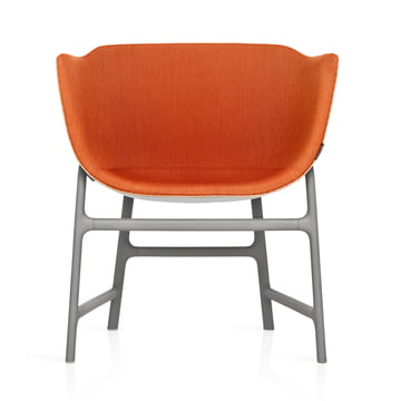 Fritz Hansen - Minuscule Chair, grey 123, orange 443 - front
