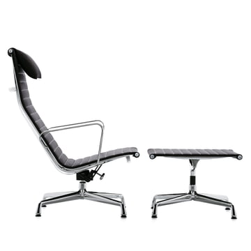 Vitra - Aluminium Group EA 124 + EA 125, Hopsak black