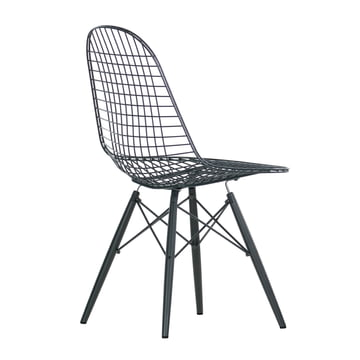 Vitra - Wire Chair DKW, black maple - inclined backside