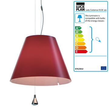 Luceplan - Lady Costanza pendant lamp D13E sas, red