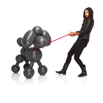 Fatboy - inflatable Dolly, anthracite - with person