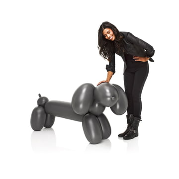 Fatboy - Inflatable Hot Dog, anthracite - with person