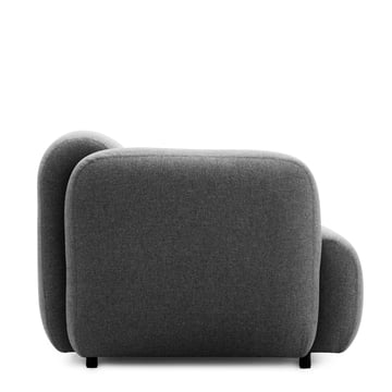 Normann Copenhagen - Swell 3-seats, grey - lateral
