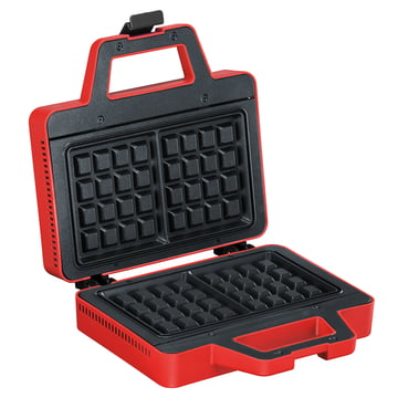 Bodum - Bistro Waffle Maker, red - open