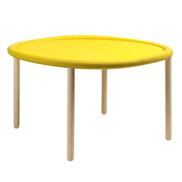 Hay - Serve Table, beech, yellow, 72cm