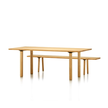Vitra - Wood Table / Bench, oak solid, 2000 mm