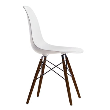 Vitra - Eames Plastic Side Chair DSW, Marple dark / white